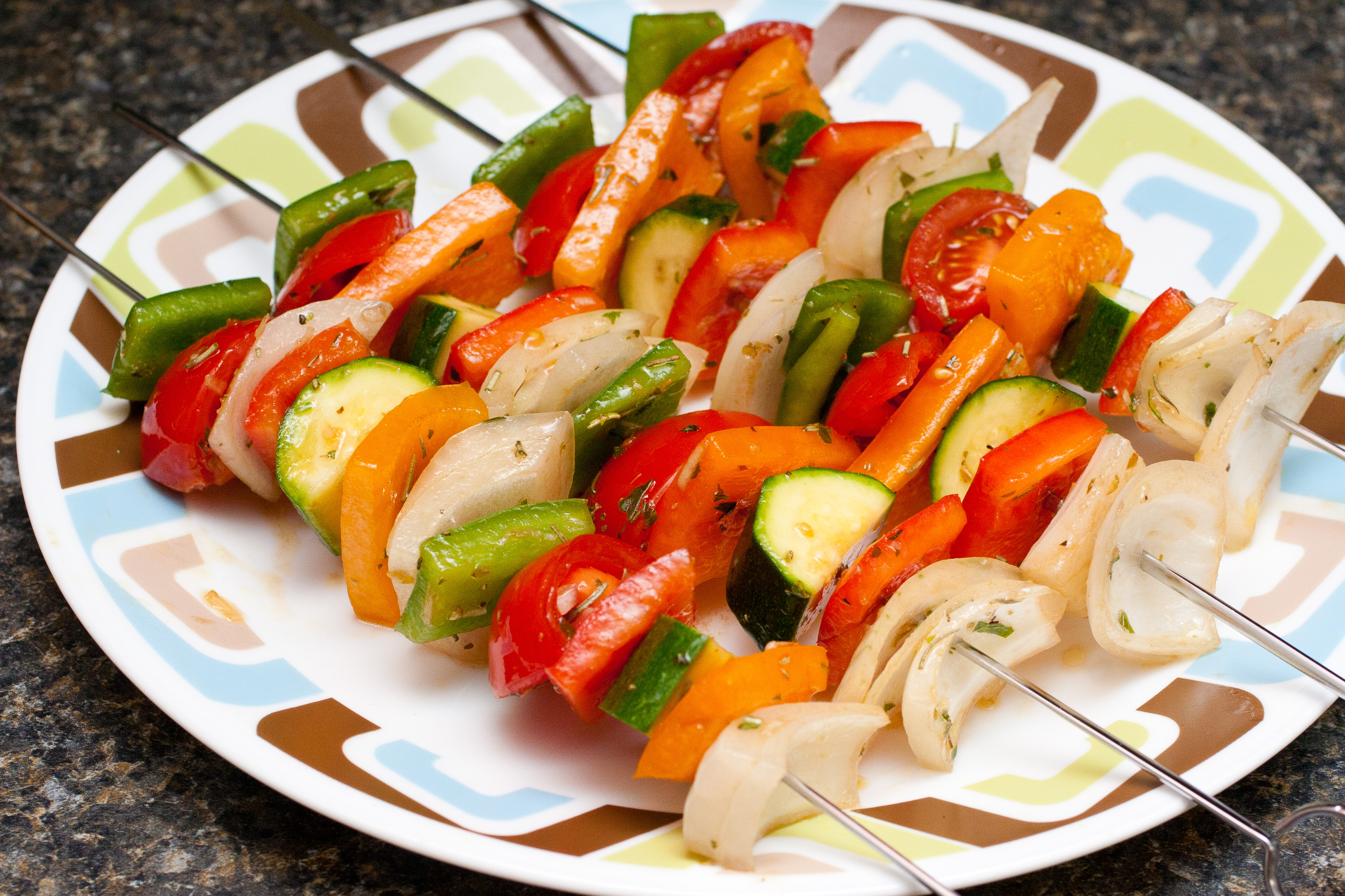 how to make grilled vegetables in a pan